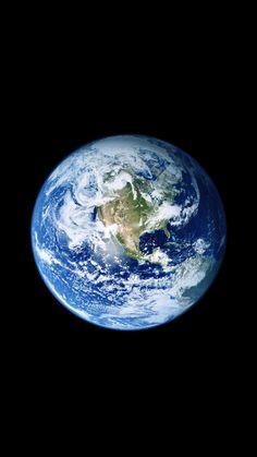 宇宙から見た地球です。